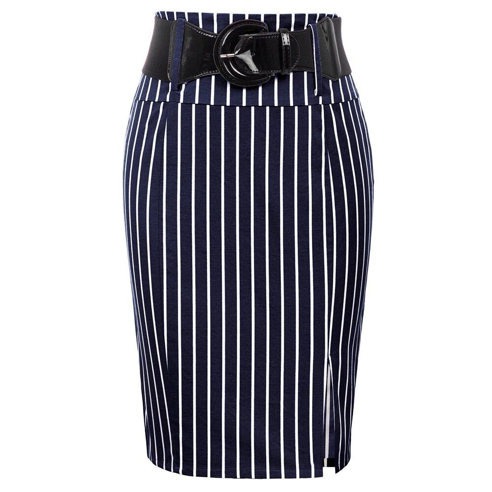 Женская винтажная облегающая юбка карандаш, облегающая с высокой талией и поясом|Юбки|   | АлиЭкспресс