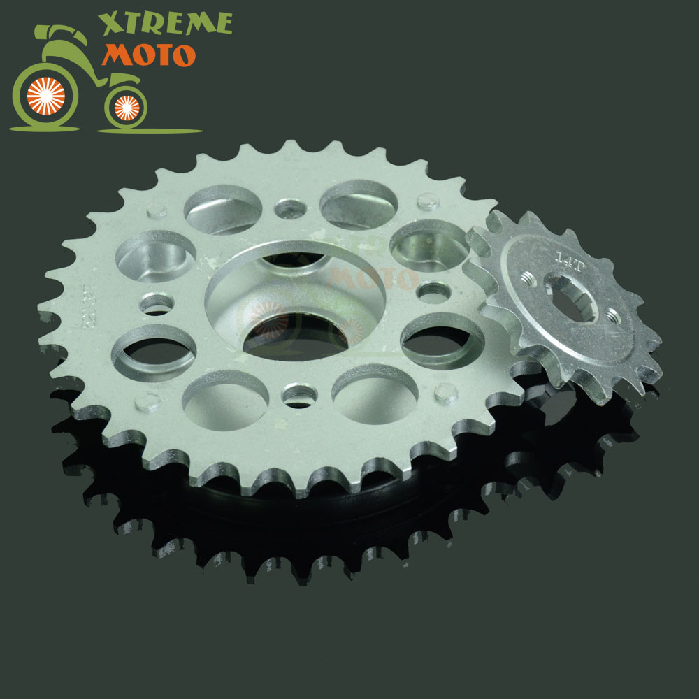 Motorcycle Ditrbike Steel 14T Front & 32T Rear Sprockets Set For Rebel CA250 CMX250 1996-2011 CMX250C 2003-2011 ca arsenal slr105 a1 steel version