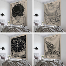 Tarot Card Tapestry Wall Hanging Psychedelic Tapiz Witchcraft Cloth Tapestries Astrology Divination Bedspread Beach Mat
