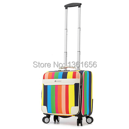 16 Inch,PU,Carry-Ons Luggage,Luggage Travel Suitcase,Rolling Luggage,Check-In Luggage,3.5kg,CA008 - Fashion Luggage store