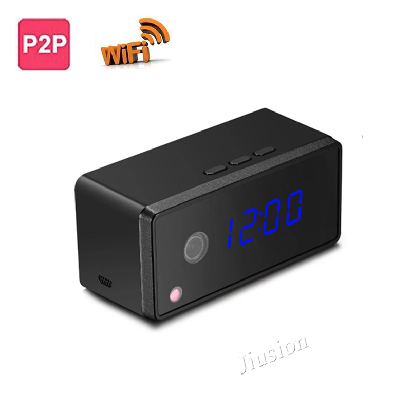 Mini Wifi P2P Camera HD 720P, Wireless Table Clock IP Camera, Micro Cam DVR Camcorder with Clock Alarming Setting Night Vision боуман л маклейн дж веселые занятия для творческих девчонок
