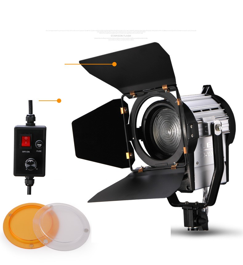 Dimmable Bi-color 100W LED Spot Light Studio Fresnel LED Light  3200-5500K For Studio Camera Photo Video Equipment CD50  CD50Y