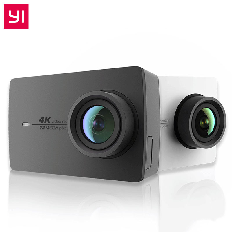 YI 4K Action Camera Bundle 2.19 LCD Tough Screen 155 Degree EIS Wifi International Edition Ambarella 12MP CMOS Sports Camera yi 4k action camera black 2 19lcd screen 155 degree eis wifi international edition ambarella a9se75 12mp cmos 5ghz wi fi
