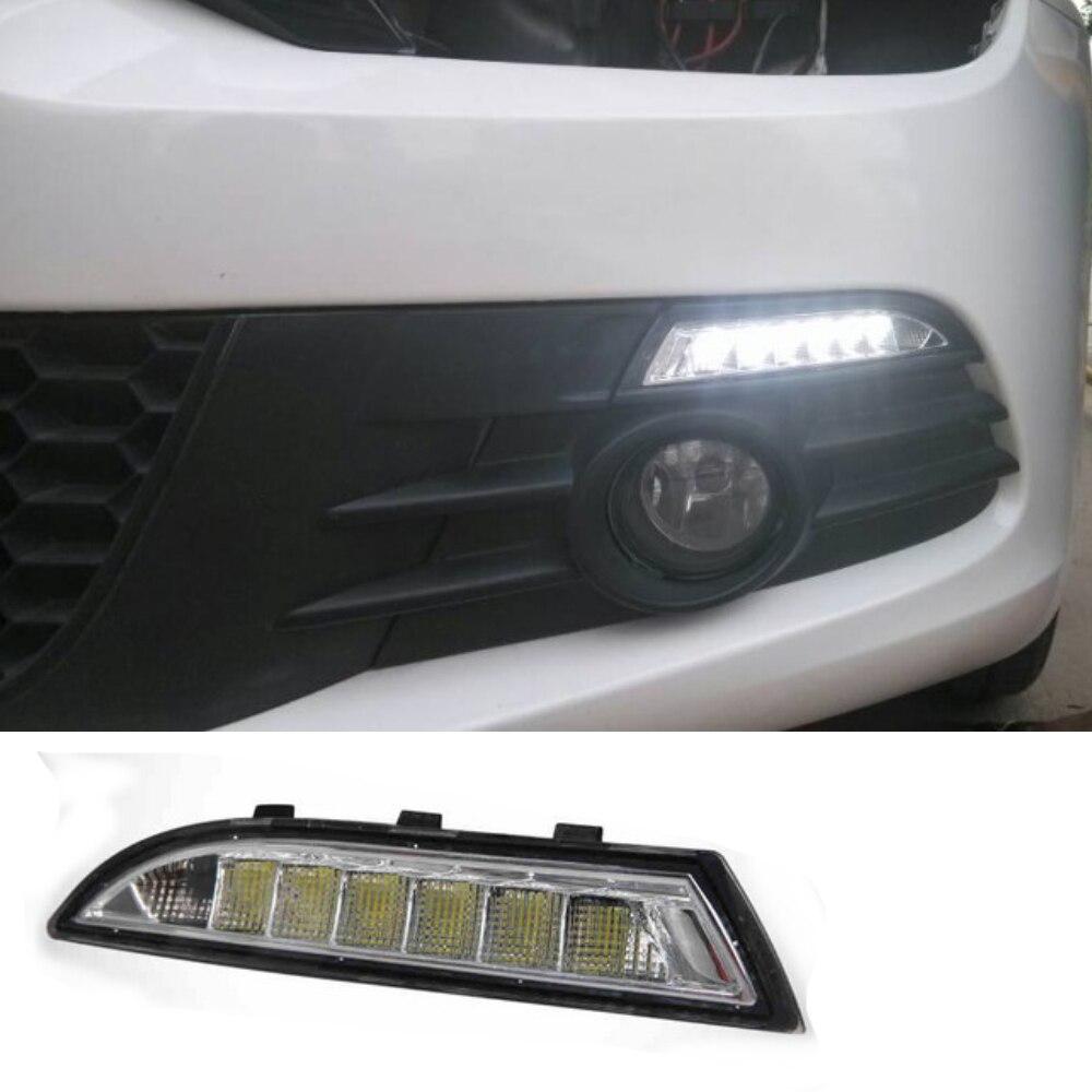 2 pcs/lot Turning signal lights car accessory auto fog lamp LED Daytime Running Light for V/olkswagen R s/cirocco 2009 2013 DRL