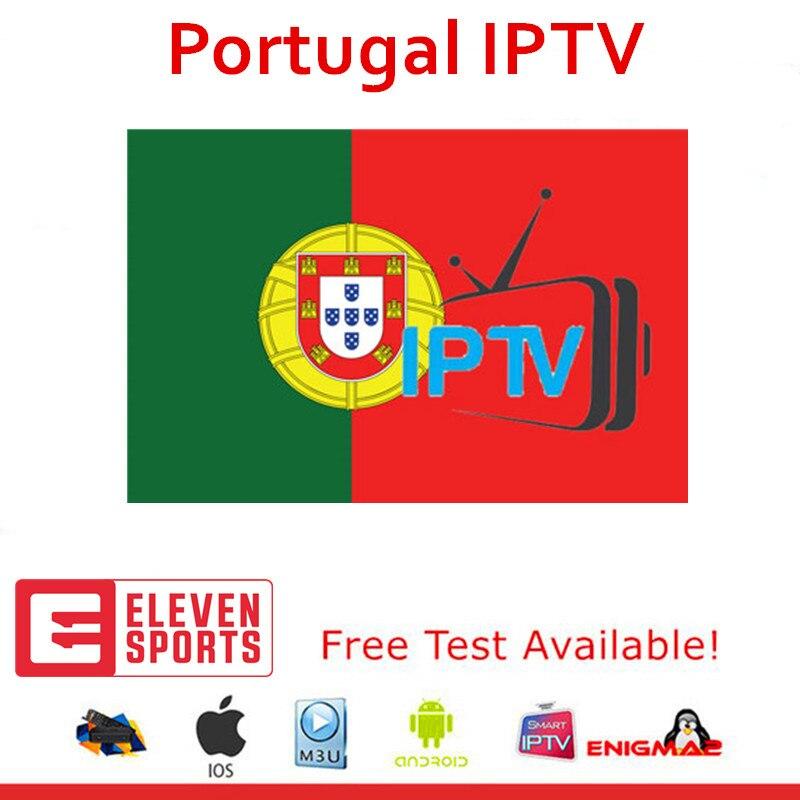 1 an HD Portugal IPTV abonnement 150 LiveTV VOD pour Android TV Box smart tv Enigma2 test gratuit soutien onze sports Italia