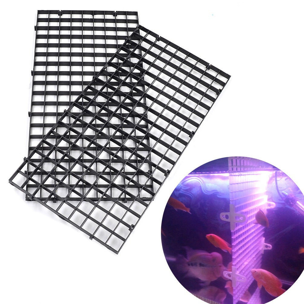 Durable Plastic Fish Grid Divider Tray Egg Crate Aquarium Tank Filter Bottom Isolate Pan ...