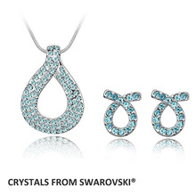 2015 hot sale style wedding jewelry sets crystal necklace set with Czech crystals Christmas Gift