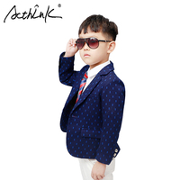 New Design Boys Dots Print Blazers Kids Fashion Spring Blazer Jacket for Boys Children Formal Wedding Suits Blazer Boys Jacket