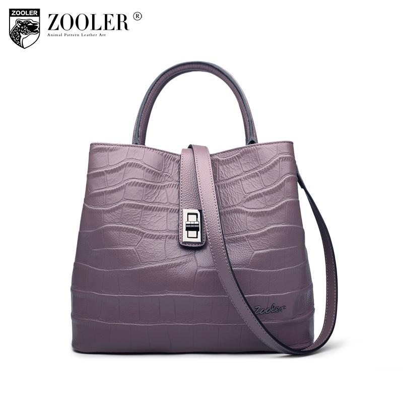 2018 New hottest bag ZOOLER genuine leather bags handbag woman famous brand high quality luxury pattern bag lady bolsas B125 2018 new zooler brand 100