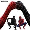 Black Red Spider Man Costume Men Adult Spiderman Cosplay Suit Spandex Superhero Costume With Mask Halloween