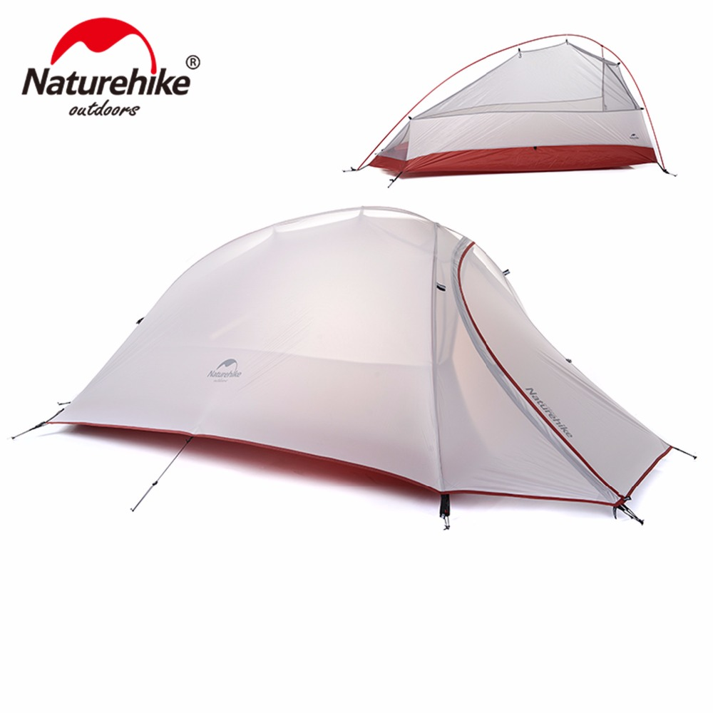 Naturehike CloudUp Series Ultralight Camping Tent Outdoor Hiking Tent For 1 Person NH15T001-T naturehike 2 person ultralight silicone camping tent outdoor best hiking hunting mountaineering camp tent for msr hubba