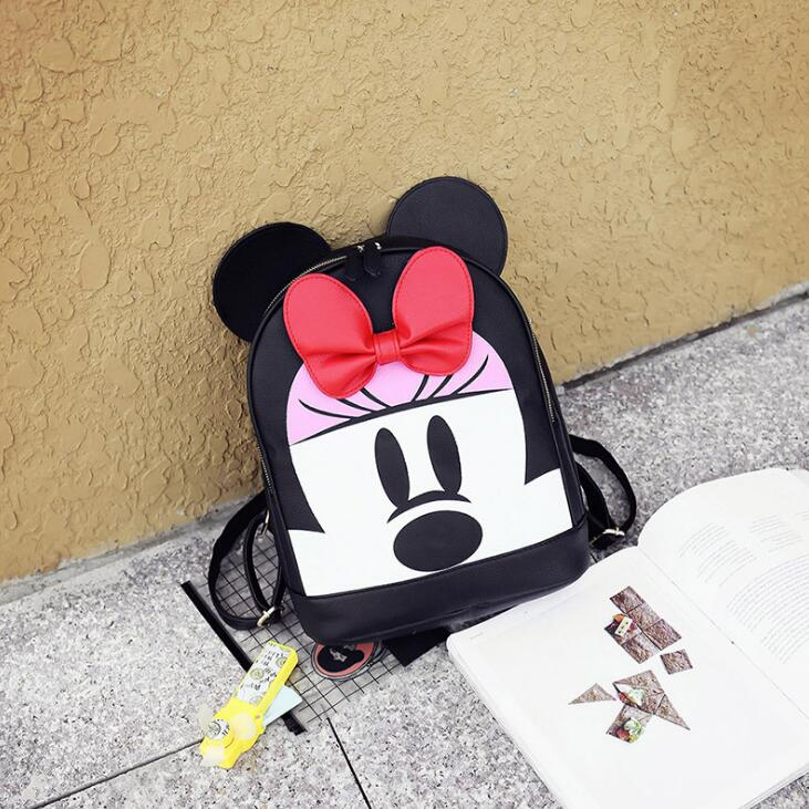 Women Travel Backpack Preppy Style Bow Cartoon Cute Schoolbag Backpacks For Teenager Gir ...