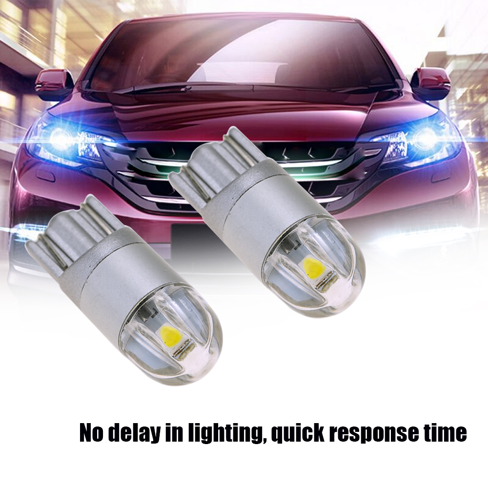 2pcs T10 3030 LED Auto Light Bulbs Highlight Turn Signal Lights Lamp Bulbs Car Lifetime 50000h Use As Indoor Lighting Box Lamp