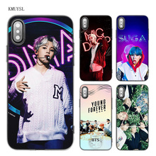 KMUYSL BTS Bangtan Boys music Young Forever Wings A.R.M.Y TPU Transparent Soft Case Cover for iPhone X 7 8 6 6s Plus 5 5S SE