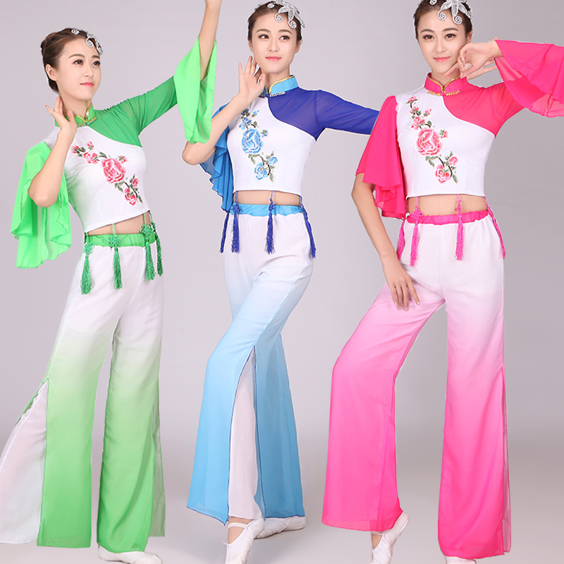 FemaleTraditional Chinese Dancing Clothes Guzheng Costume Chinese Folk Dance Wear Women's Performance Stage Wear Costumes