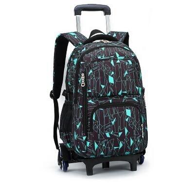 Children Trolley School Bag Kids Wheeled Backpacks Children font b Rolling b font Backpack Bags For