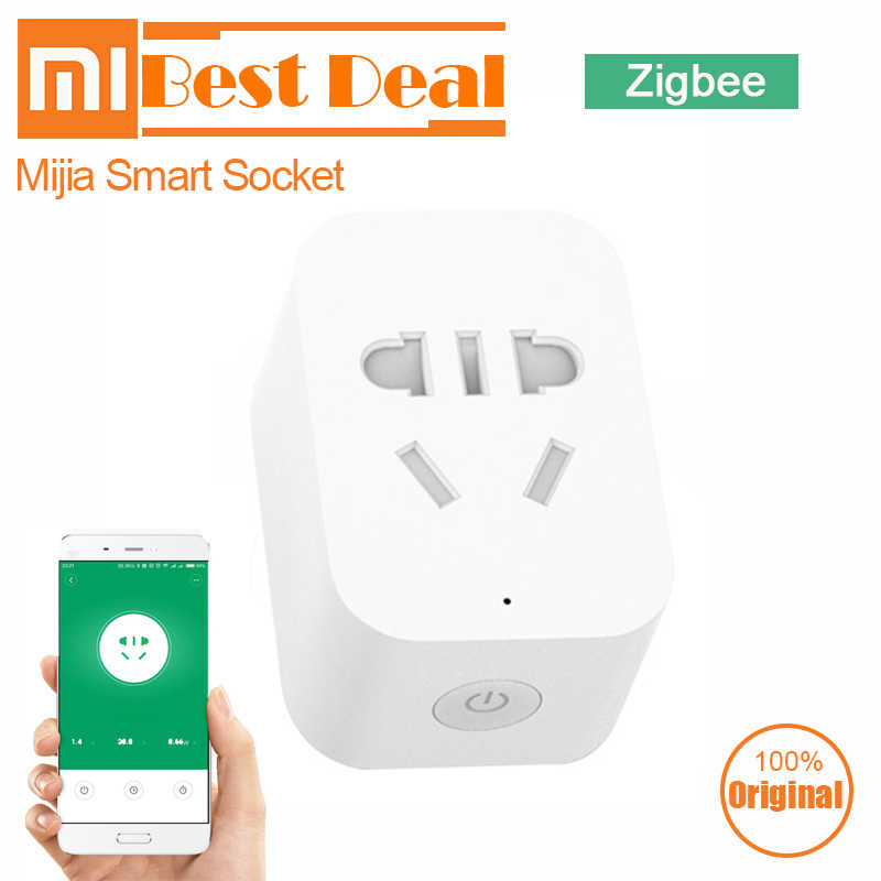 Original Xiaomi Mi Smart Socket Plug ZigBee Version Remote Control Timer Power Detection with Smart Home Mihome APP