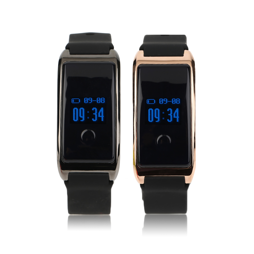 MD8 Silicone Smart Bracelet Waterproof IP68 Heart Rate Monitoring Smart Wristband 0.66 Inch OLED Display