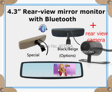 4.3inch original special rear view mirror car monitor with Bracket,Bluetooth+Rear view camera, free shipping
