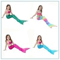 Baby Girls Kid Cosplay Mermaid Tail Dress Costume Vest Top Mermaid Tail Cloth Swimsuit Mermaid Costume