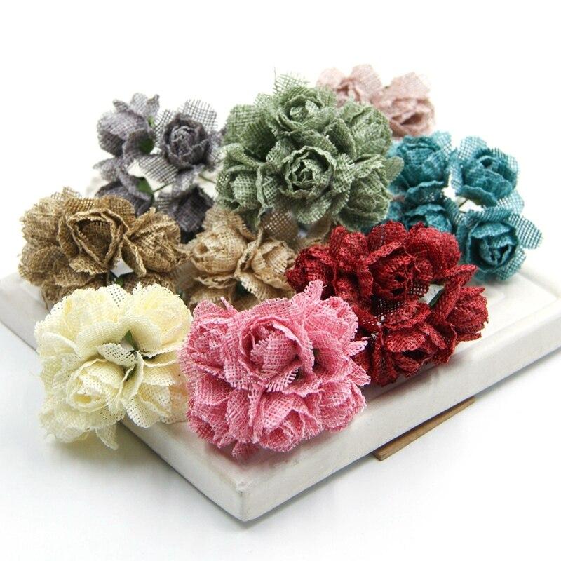 unids de arpillera de yute artificial ramos de flores para la fiesta de bodas en with imagenes de ramos de flores