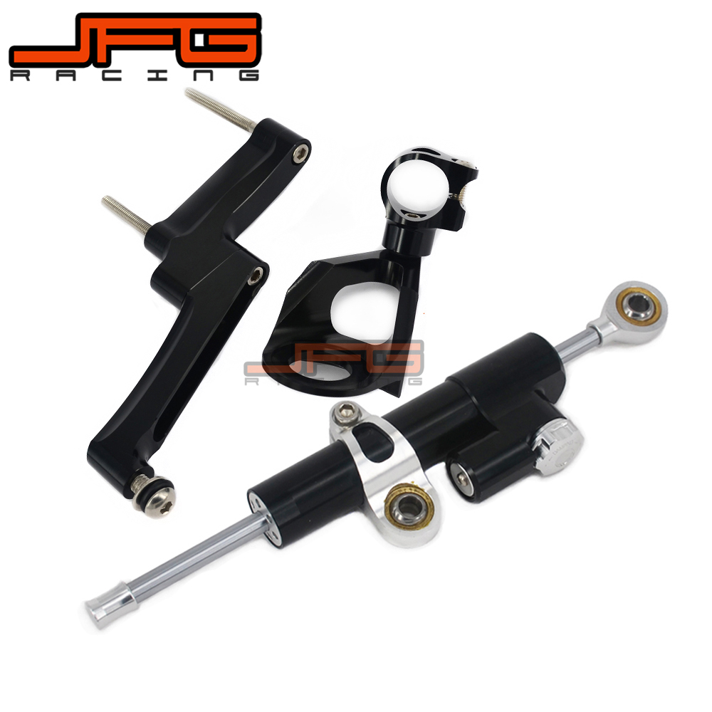 CNC Steering Damper Stabilizer Linear Reversed Safety Control & Adapter Bracket For GSXR1300 GSX1300R 1998 1999 2000 2001-2016 cnc steering damper stabilizer linear reversed safety control & adapter bracket for honda cb400 cb 400 vtec 1999 2000 2001 2012