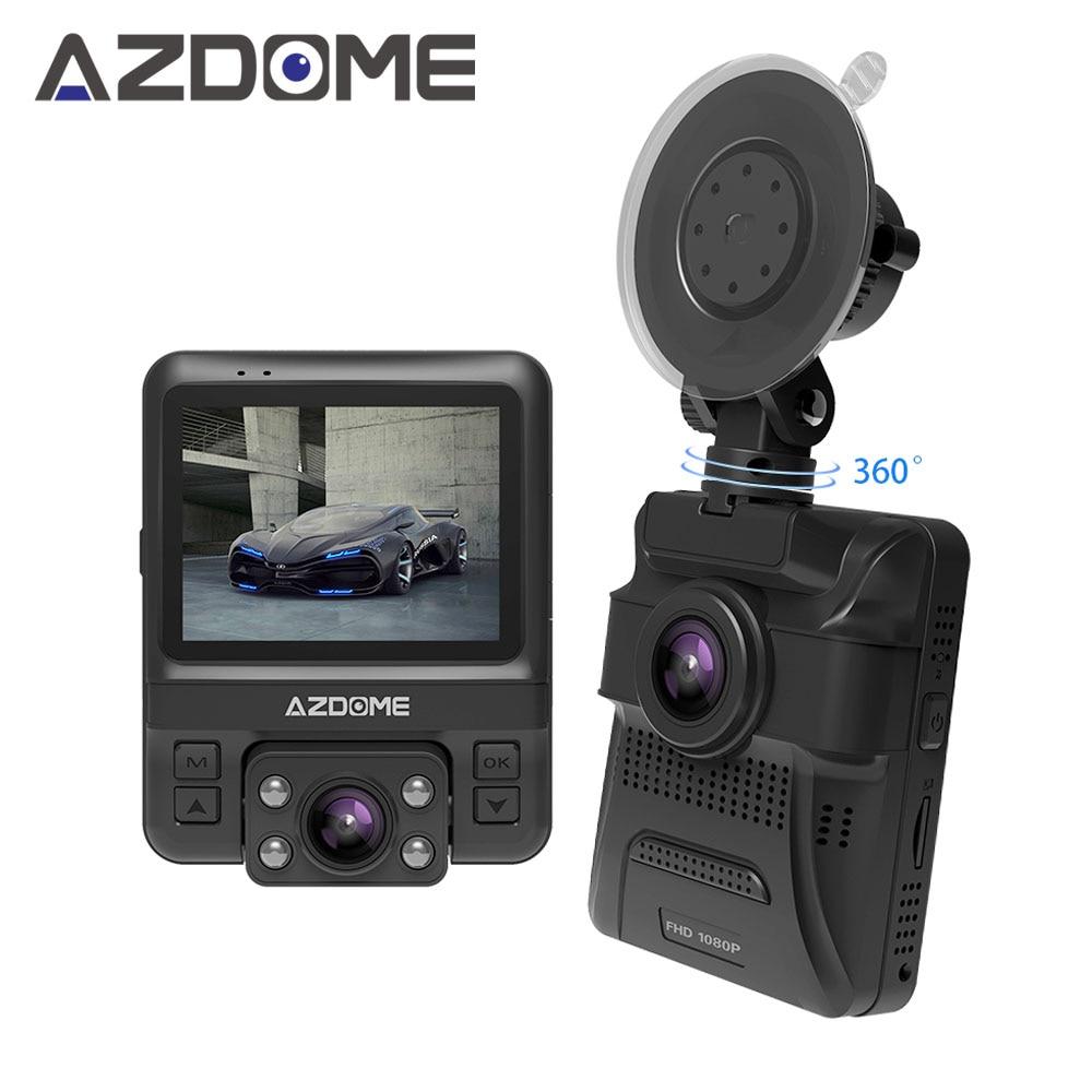 Azdome GS65H D'origine NOVATEK NT96655 Mini Double Lentille Voiture DVR Dash Cam Avant Full HD 1080 P/Arrière 720 P Enregistreur Vidéo De Voiture caméra