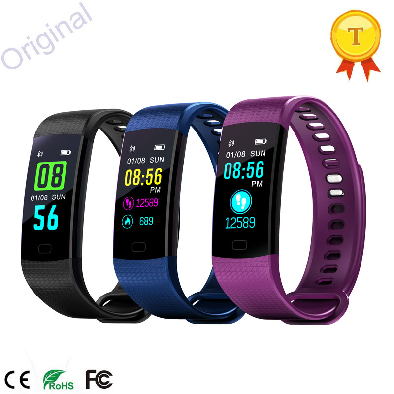Cooperative 2018 New Color Screen Smart Band Watch Bluetooth Wristband Heart Rate Activity Fitness Tracker Smartband Electronics Bracelet Special Buy Wearable Devices
