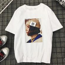 De tendencias verano 2018 casual camiseta blanca mujer nueva moda letra  Harajuku camiseta para las mujeres e2cfd219788