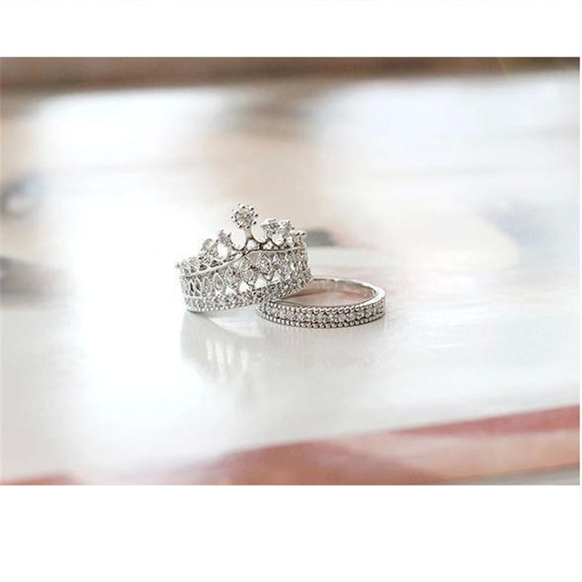 SHUANGR New fashion accessories jewelry Top quality crystal Imperial crown Engag