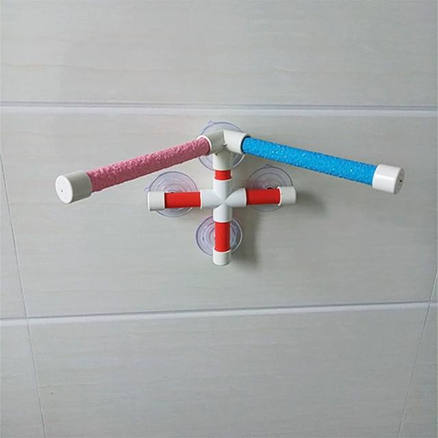 High Quality Parrot Bath Shower Standing Platform Rack Parrot Climbing and Biting Shower Perch Parakeet Bird Toy Random Color 5
