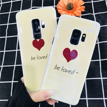 цена на Simple Laser Blu-Ray Love Heart Soft TPU Phone Cases For Samsung Galaxy S7 S8 S9 Plus Edge Note8 Case Fashion Candy Color Fundas