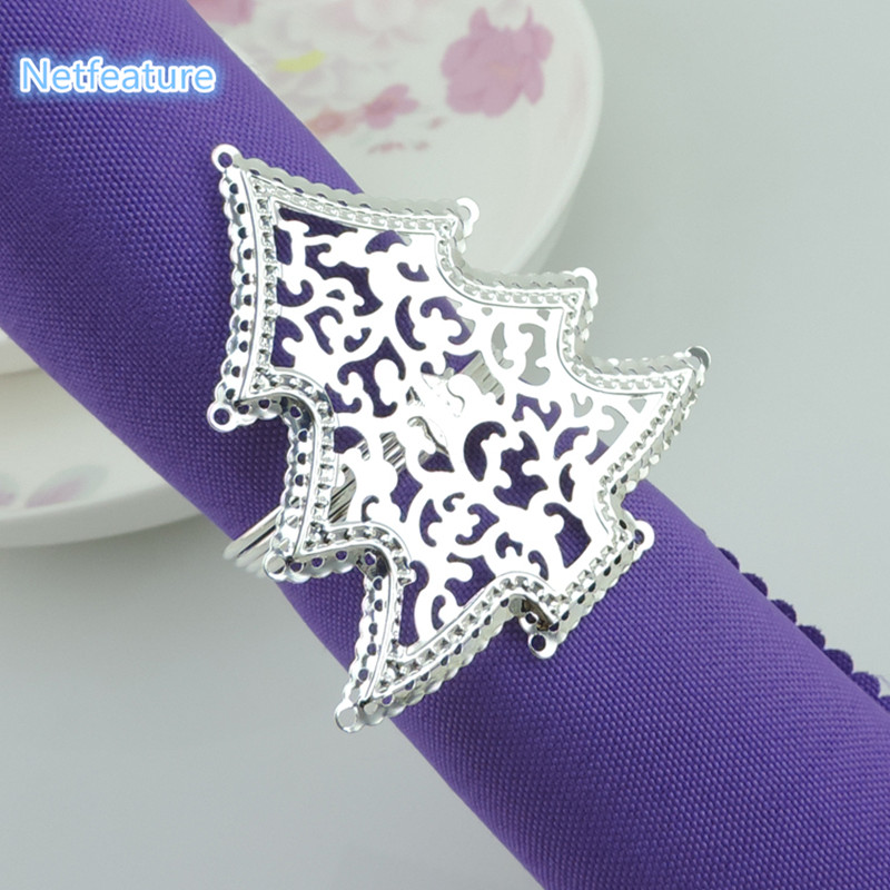 Christmas Tree Napkin Rings.Us 11 66 20 Off Free Shipping 10pcs Lot Christmas Tree Napkin Ring Napkin Buckles For Wedding Banquet Hotel Supplies Restaurant Table Decoration In