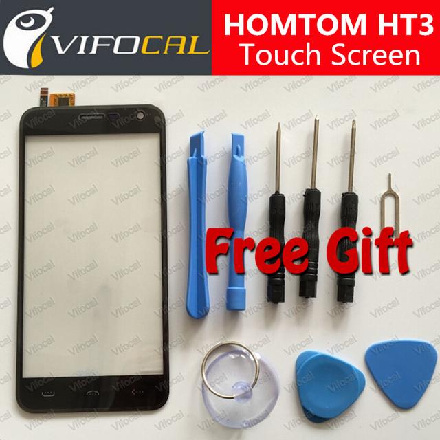 HT3 HOMTOM tela sensível ao toque + Conjunto de Ferramentas Presente 100% do telefone móvel Original painel de Digitador de vidro Substituição Conjunto Da tela para telefone celular