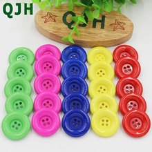 20pcs 25mm 4 holes Colorful resin coat buttons large fashion buttons clothing accessories diy sewing craft accessories Scrapbook