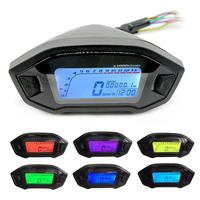 High Quality Waterproof DC 8 12V Motorcycle LCD Display KM Mile RPM Speed Meter Gauge Car