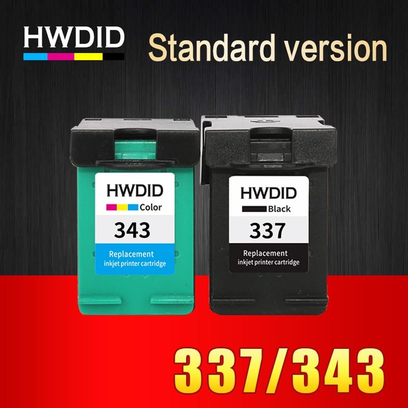 2 stücke Für HP 343 337 tintenpatrone BK + dreifarbige kompatibel für...