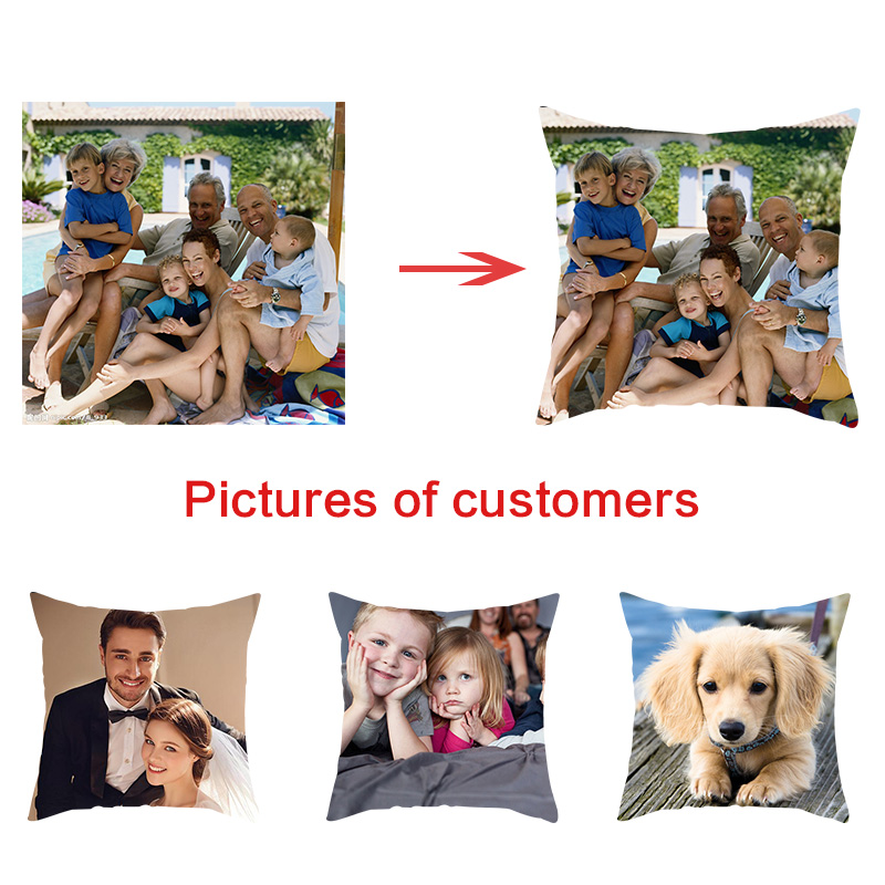 Fuwatacchi Private customization Home Decorative Pillows Customize Cushion cover Personalized Linen Pillowcase Print Photo