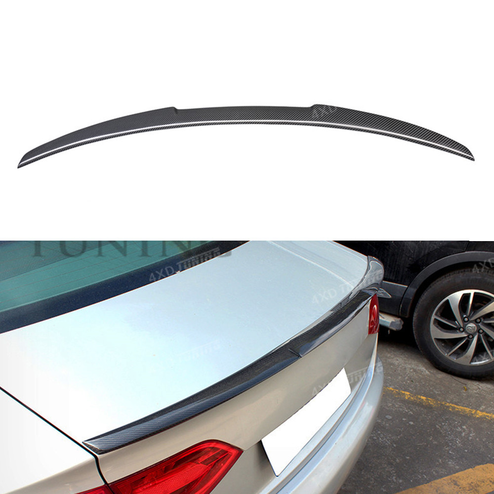 For Audi A4 B8 Carbon Rear Spolier M4 Style Carbon Fiber Rear Spoiler Rear Trunk Wing For Audi A4 B8 Spoiler 2009 2010 2011 2012 2x no errors xenon white 50w p13w c ree led bulbs drl for 2008 12 audi b8 model a4 or s4 with halogen headlight trims