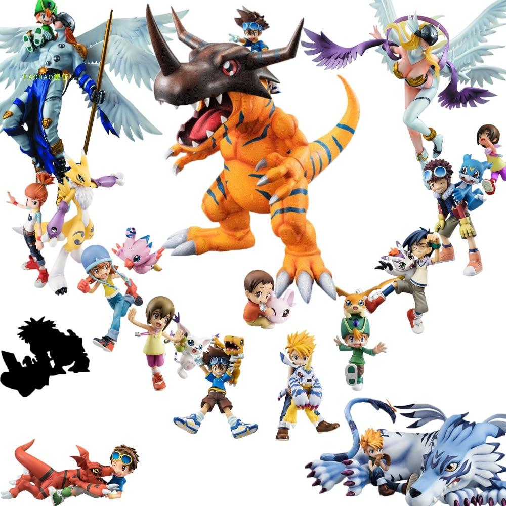 2019 Digimon Adventure anime Figure Greymon/Agumon/TAICHI/Sora/Takeru/Hikari/Gomamon/Garurumon/Yamato/Daisuke Renamon figurine soccer balls size 4