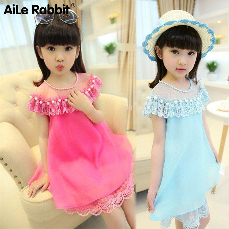 AiLe konijn zomer kostuum meisjes prinses jurk kinderen avond kleding - Kinderkleding