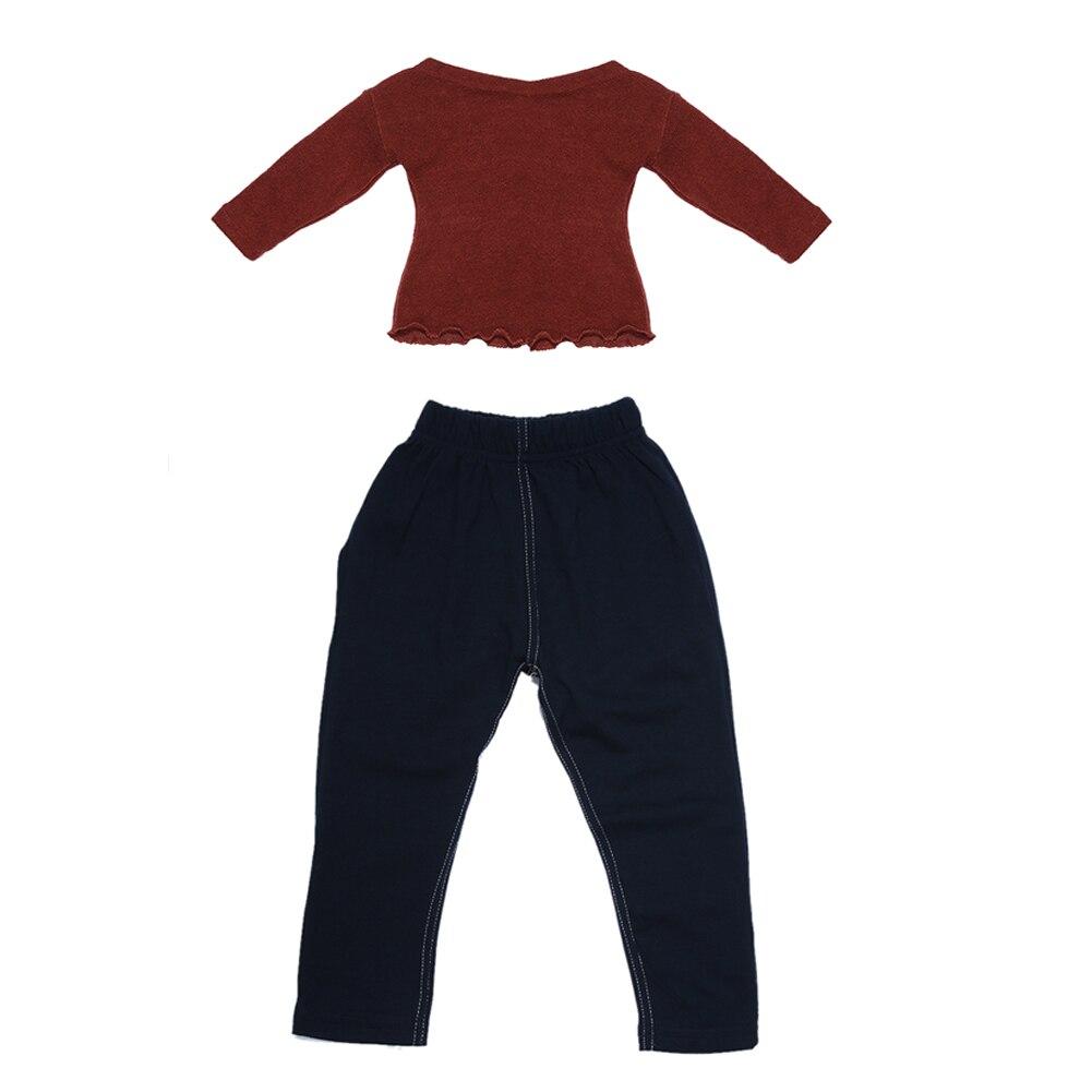 2 шт. вязаный комплект детской одежды Повседневное Дети с длинным рукавом новорожденных толстовки Обувь для мальчиков топы для девочек длин...