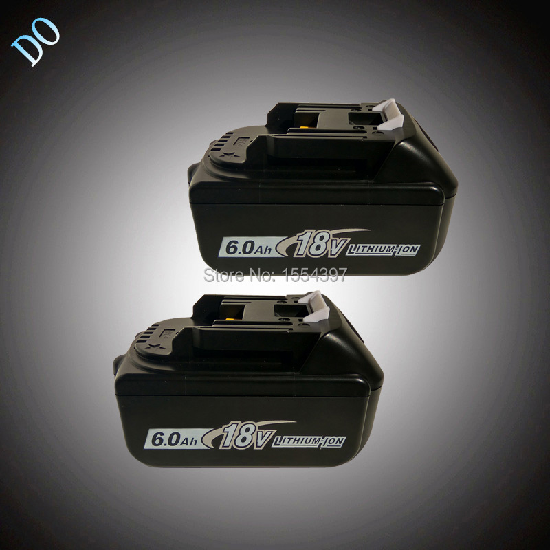 2PCS 6000mAh Power Tool Rechargeable Lithium Ion Battery Replacement for Makita 18V BL1830 BL1840 BL1850 LXT400 BL1815 Li-ion 2 pcs 3 6v 2100mah ni mh rechargeable power tool battery replacement for black