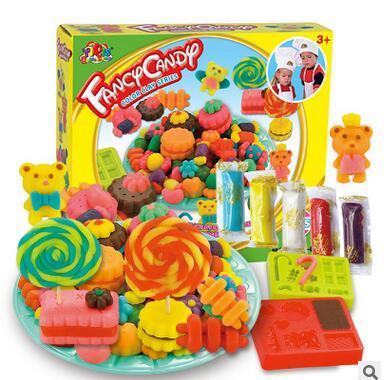 8 Цветов Играть Doh 3D Творческая Fimo Полимерная Глина С Пресс-Формы Kid Образования Игрушки Играть Тесто S20