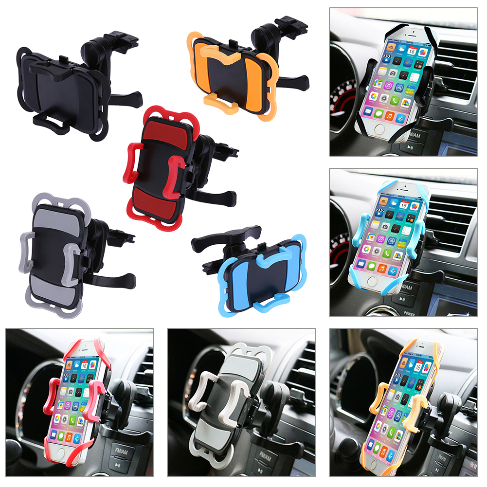 360 Degree Rotatable Air Outlet Car Phone Holder For iPhone Samsung Car Air Vent Mount Stand Adjustable Mobile Phone Bracket