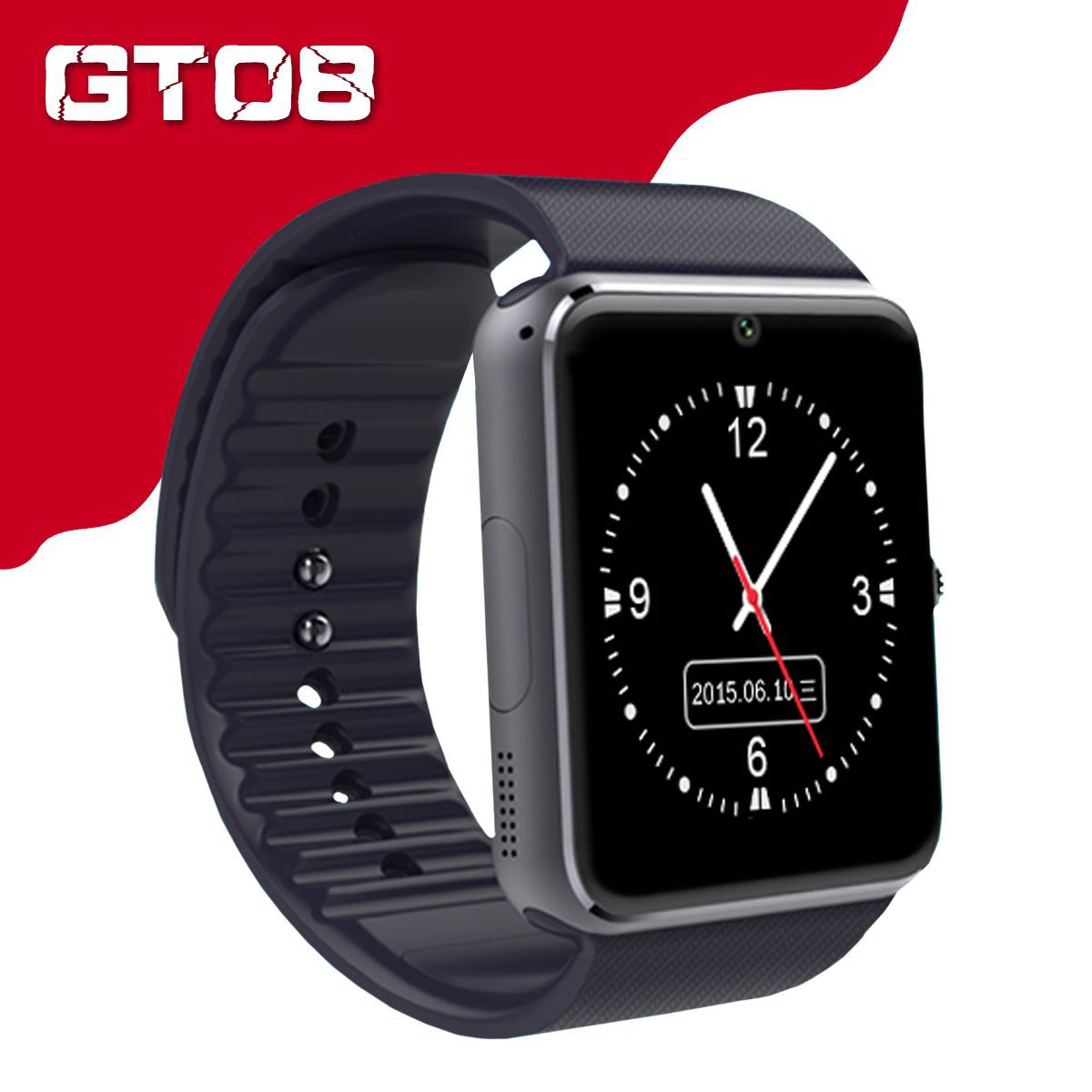 GT08 Smart Watch Bluetooth Smartwatches For Android Smartphones SIM Card Slot NFC Health Watchs for Android with Retail Box