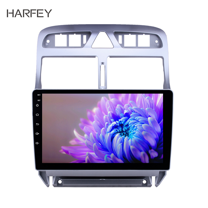 Harfey GPS <font><b>car</b></font> multimedia player <font><b>Radio</b></font> for 2007 2008 2009 2010 2011-2013 <font><b>Peugeot</b></font> <font><b>307</b></font> with Bluetooth AUX support DVR Carplay SWC image