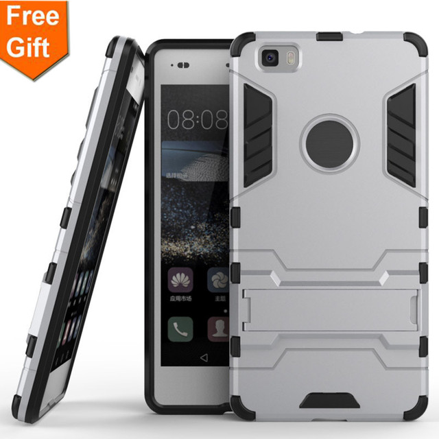 """For Huawei P8Lite / Huawei ALE-L21 ALE-L04 Armor Bracket 2 In 1 Silicone & PC Back Cover Case For Huawei P8 Lite / P8 Mini 5.0"""""""