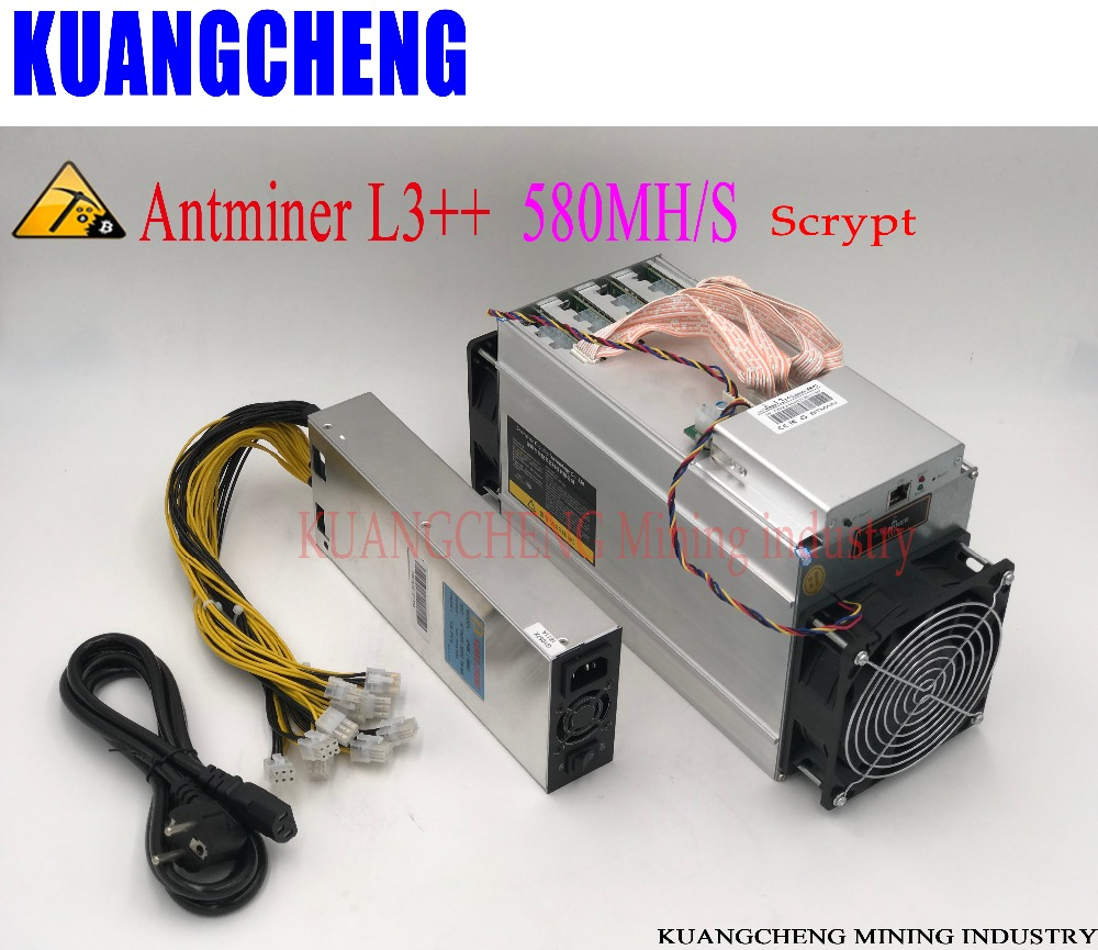 ANTMINER L3++ LTC 580M 942W With PSU Scrypt Miner LTC Mining Machine Optimized And Upgraded Version Of ANTMINER L3+