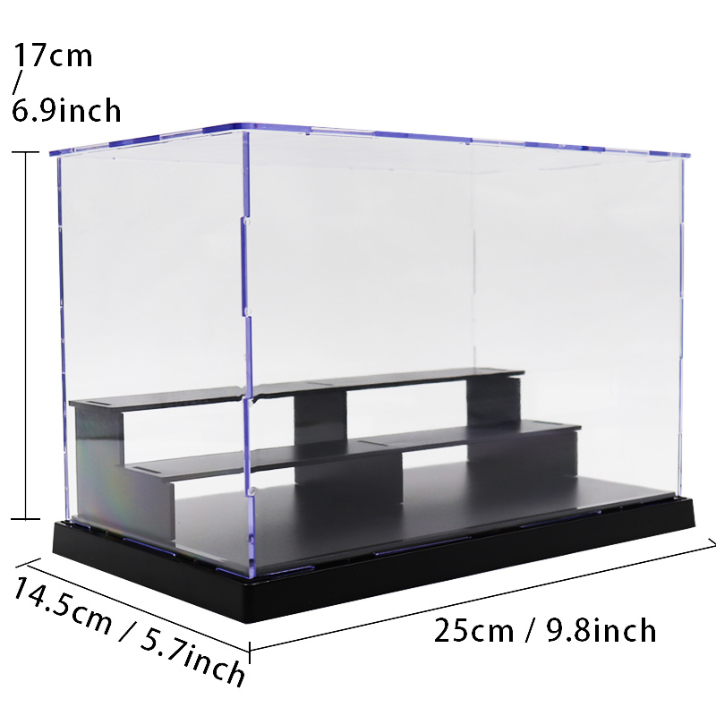 Acrylic Figure Display Box Showing Case Toy Dustproof Transparent Building Blocks Set Model Bricks Toys For Children Boys Gifts